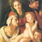 Bronzino, La Sainte Famille (détail), 1520, National Gallery, Washington